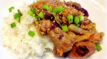 Thai pork packets with jasmine rice
