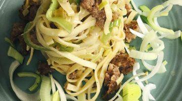 Sausage and Leek Linguine | Chef Jay Recipe LIVE