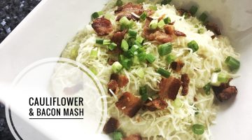 Cauliflower and Bacon Mashed Potatoes | Video